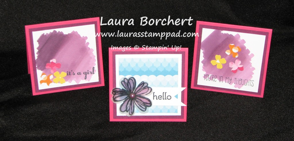 Mini Cards with Blendabilities, www.LaurasStampPad.com