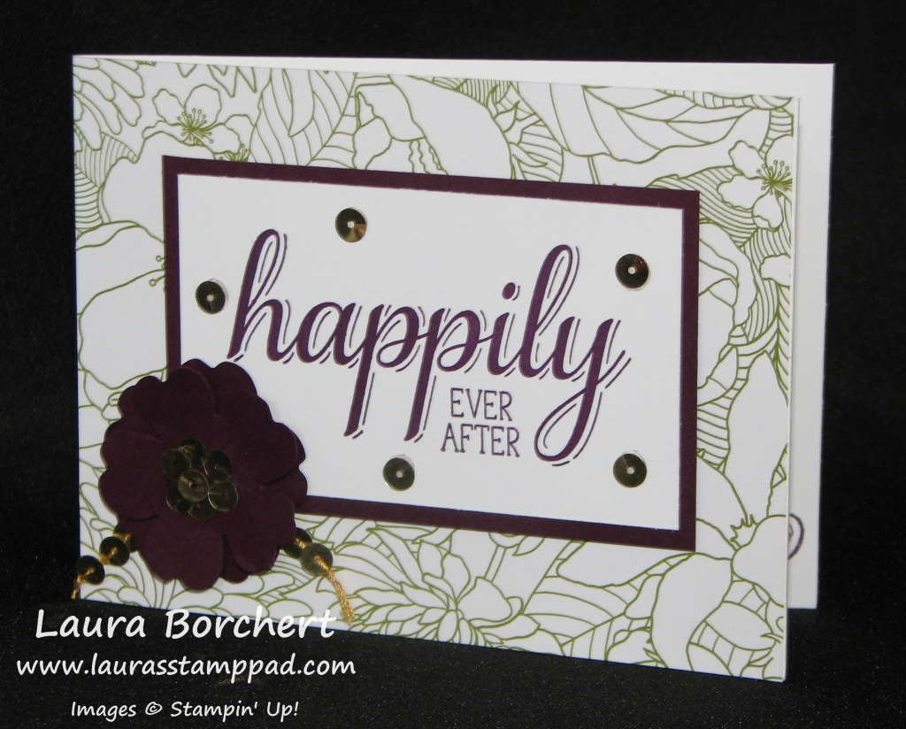 Big News Wedding Card, www.LaurasStampPad.com