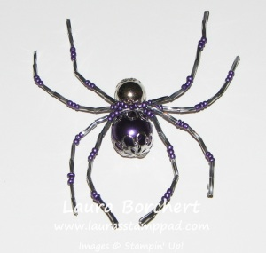 Beaded Spider, www.LaurasStampPad.com