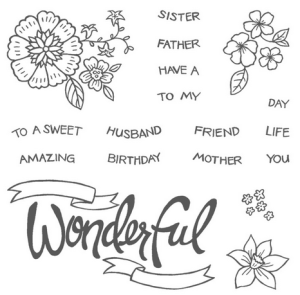 You're Wonderful Set, www.LaurasStampPad.com