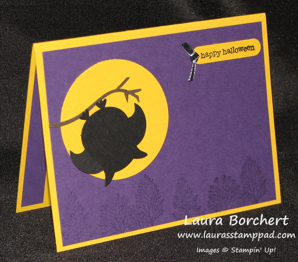 Bat, Owl Punch, Halloween, www.LaurasStampPad.com