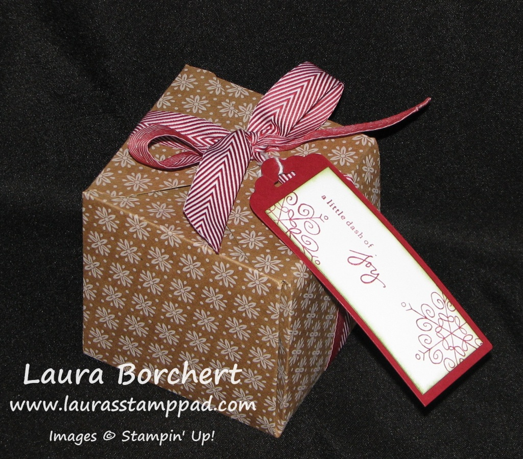 Large Gift Box Punch Board, www.LaurasStampPad.com