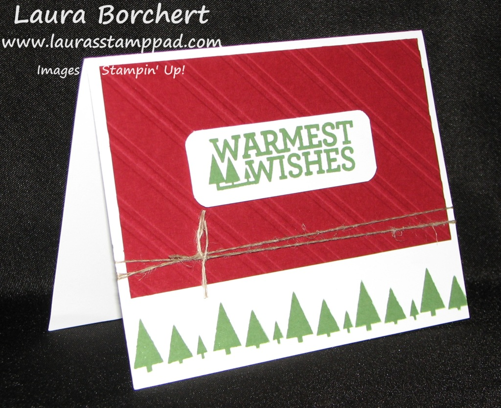 Rustic Trees Christmas Bliss, www.LaurasStampPad.com