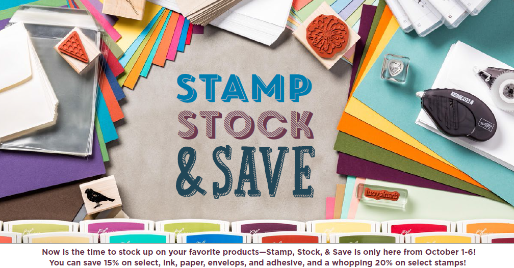 Stamp Stock and Save, www.LaurasStampPad.com