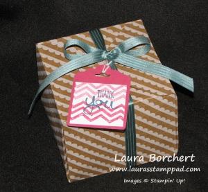 Gift Box Punch Board, www.LaurasStampPad.com
