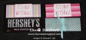 Birthday Hershey Bars, www.LaurasStampPad.com