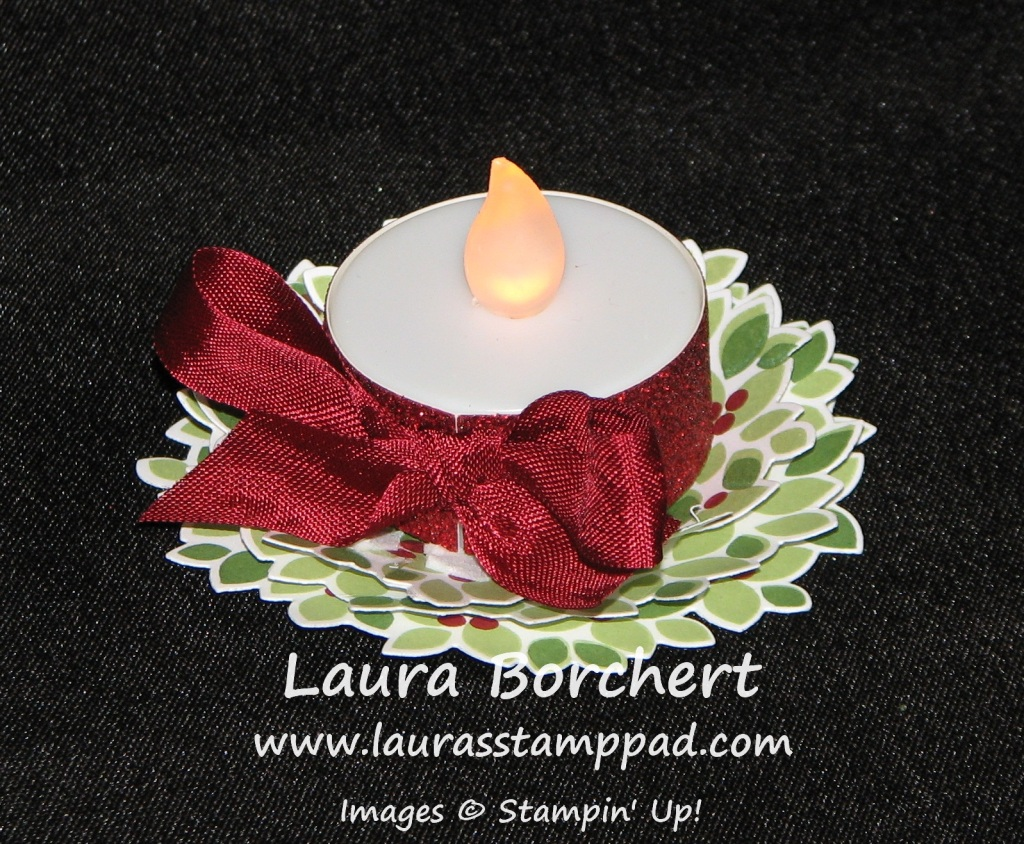 Wondrous Wreath Candle, www.LaurasStampPad.com
