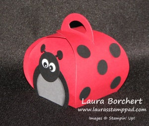 Lady Bug Curvy Keepsake Box, www.LaurasStampPad.com