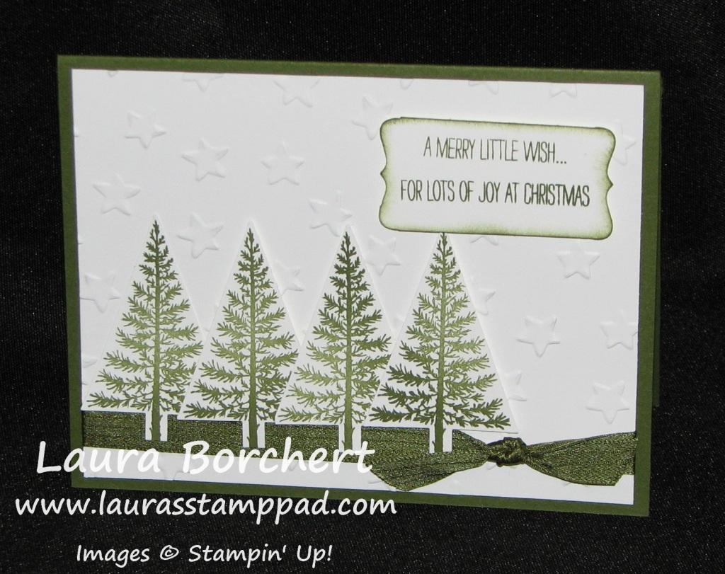 Pine Tree Festival of Trees, www.LaurasStampPad.com
