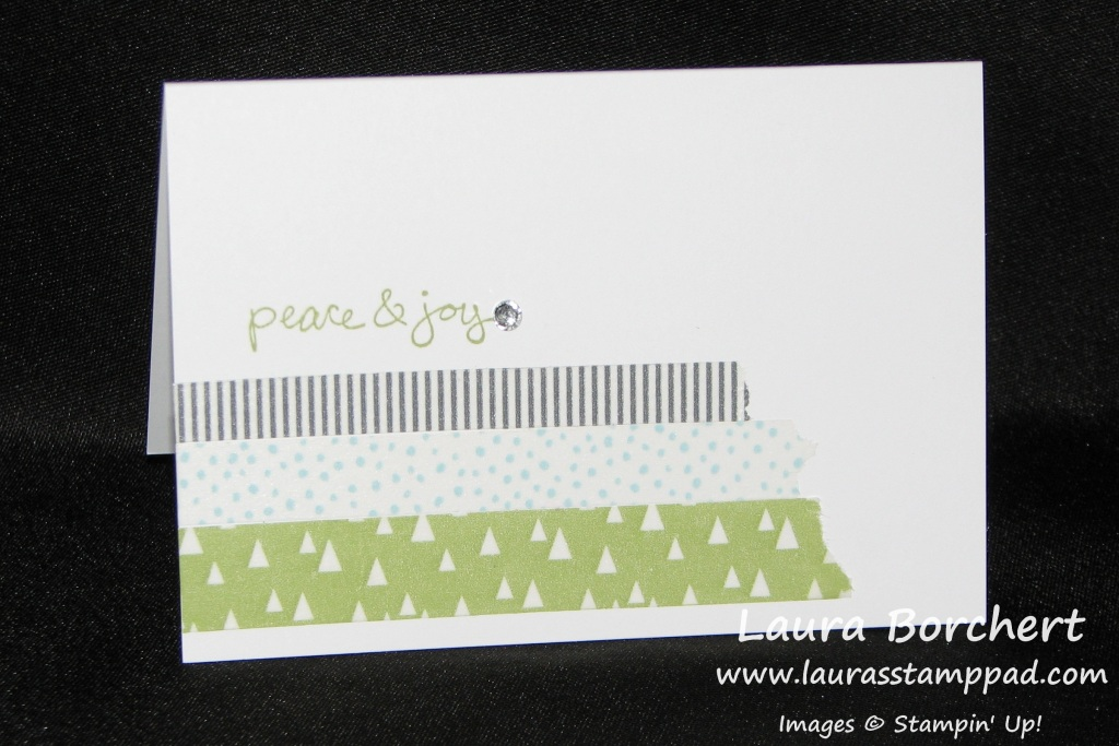 CAS Washi Tape Holiday, www.LaurasStampPad.com