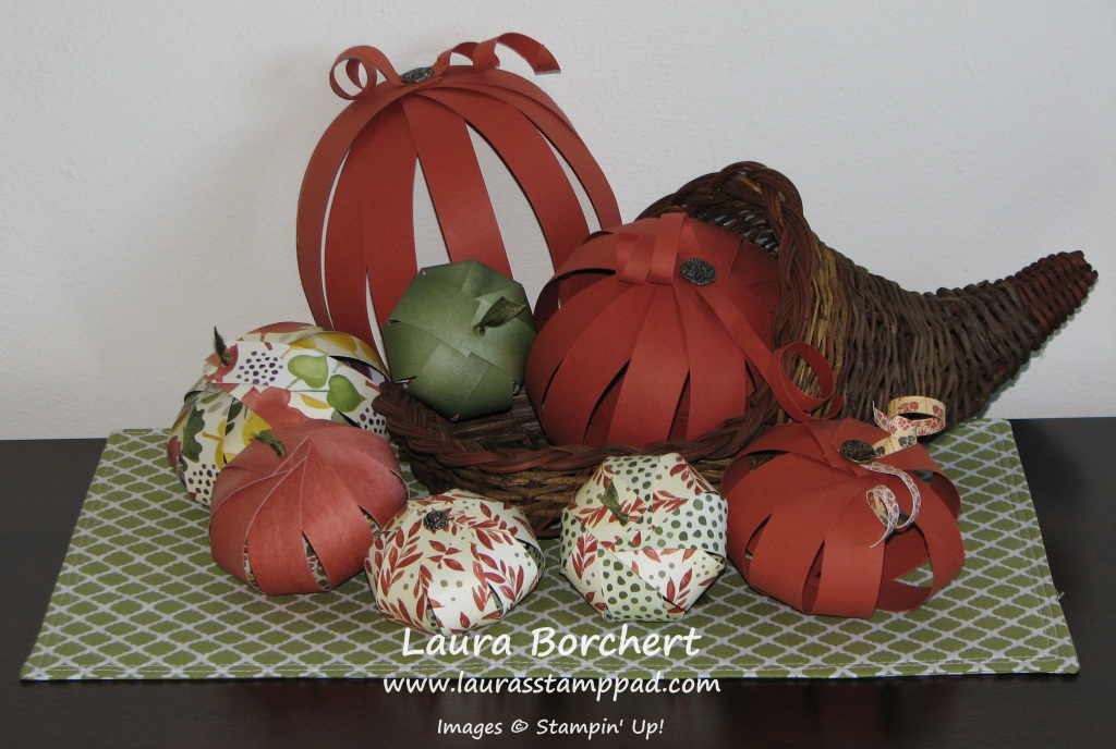 Pumpkin Home Decor, www.LaurasStampPad.com