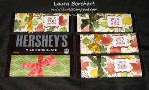 Thank You Hershey Bars,  www.LaurasStampPad.com