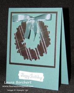 Birthday Foil Wreath, www.LaurasStampPad.com