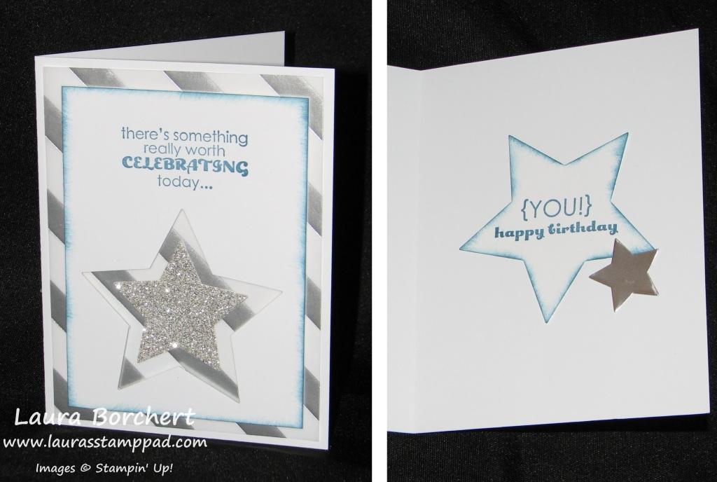 Birthday, Stars, Vellum, Glimmer, www.LaurasStampPad.com