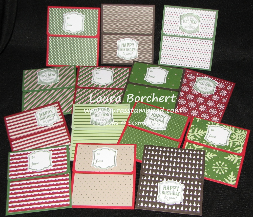 Gift Card Holders, www.LaurasStampPad.com