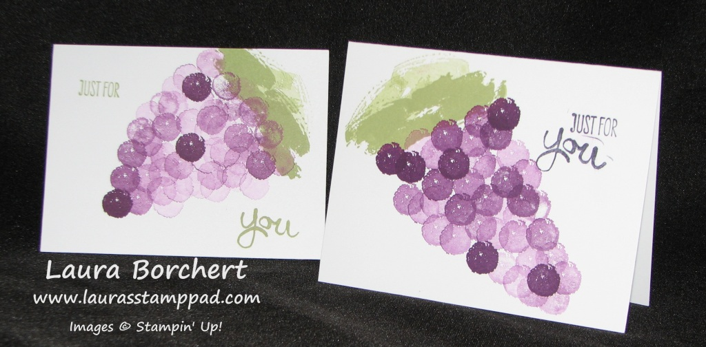Work of Art Grapes, www.LaurasStampPad.com