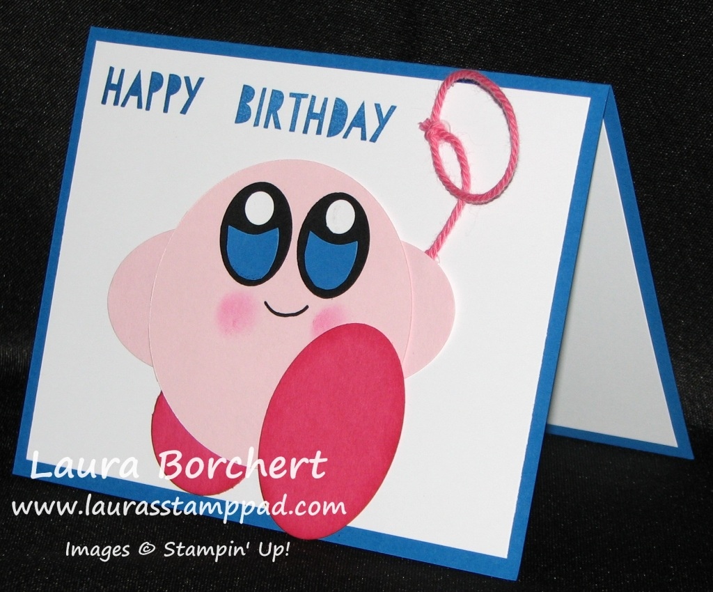 Kirby Punch Art, www.LaurasStampPad.com