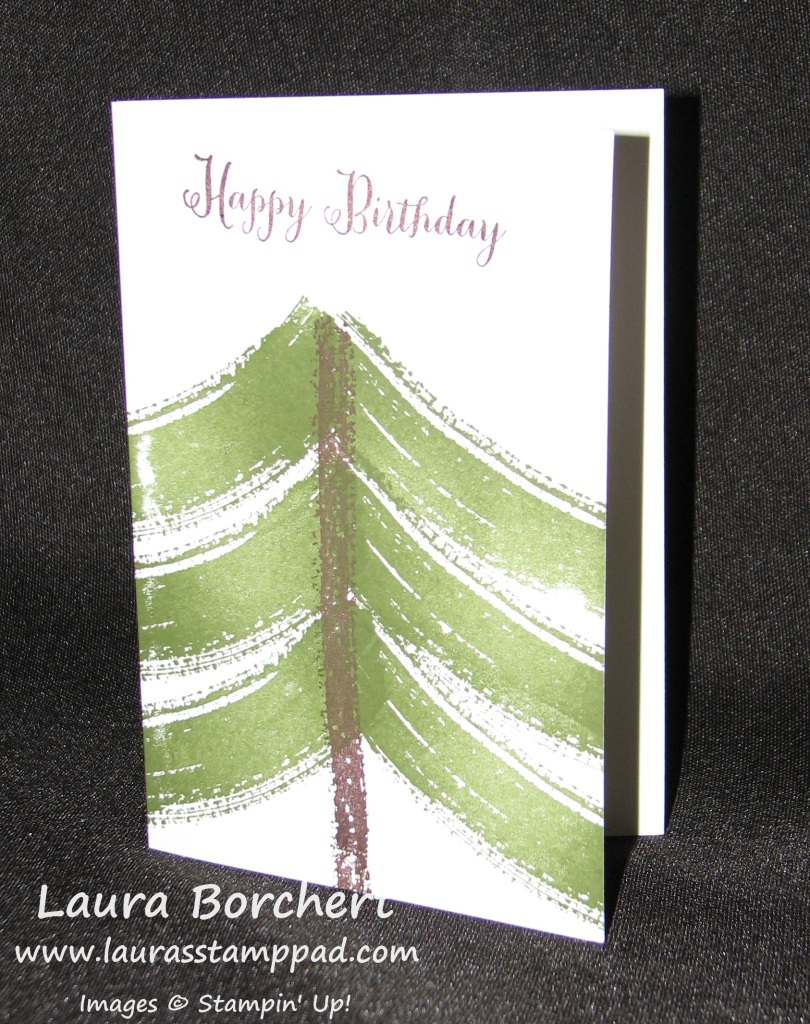 Pine Tree Work of Art, www.LaurasStampPad.com