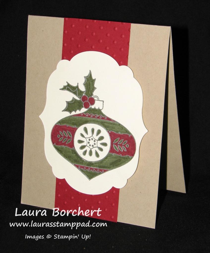 Christmas Bauble, www.LaurasStampPad.com