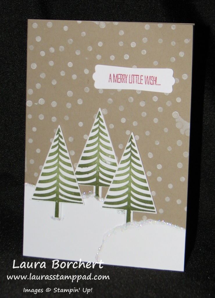 Festival of Trees, Snow, www.LaurasStampPad.com
