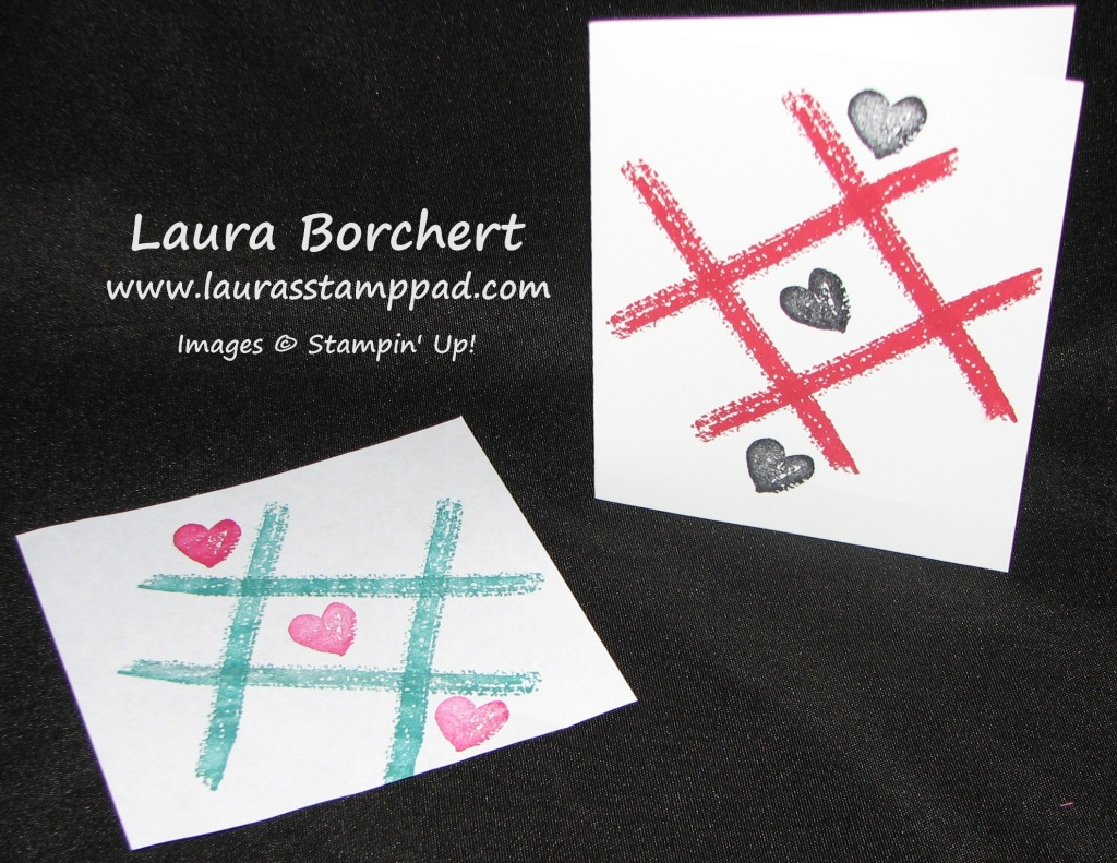 Tic Tack Toe Work of Art, www.LaurasStampPad.com