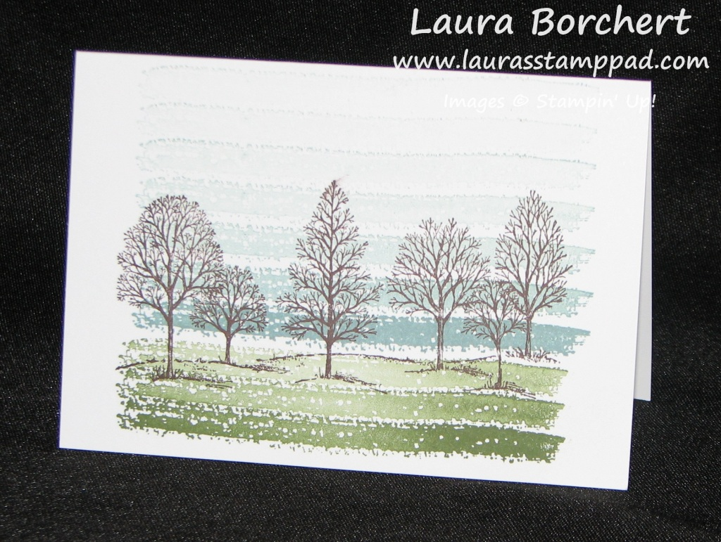 Lovely As A Tree Work of Art, www.LaurasStampPad.com