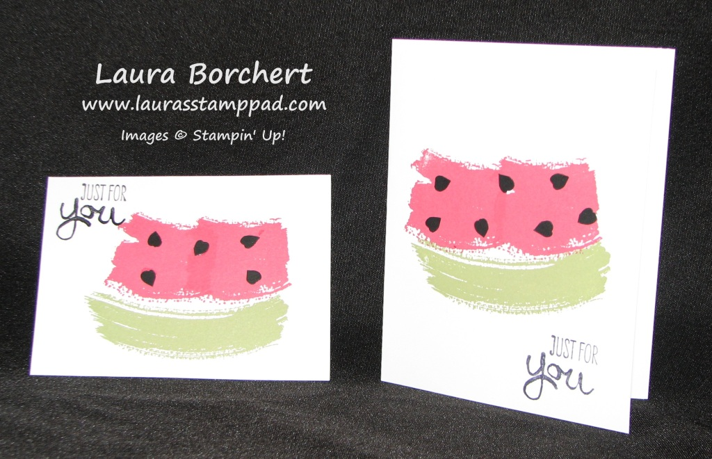 Watermelon Work of Art, www.LaurasStampPad.com