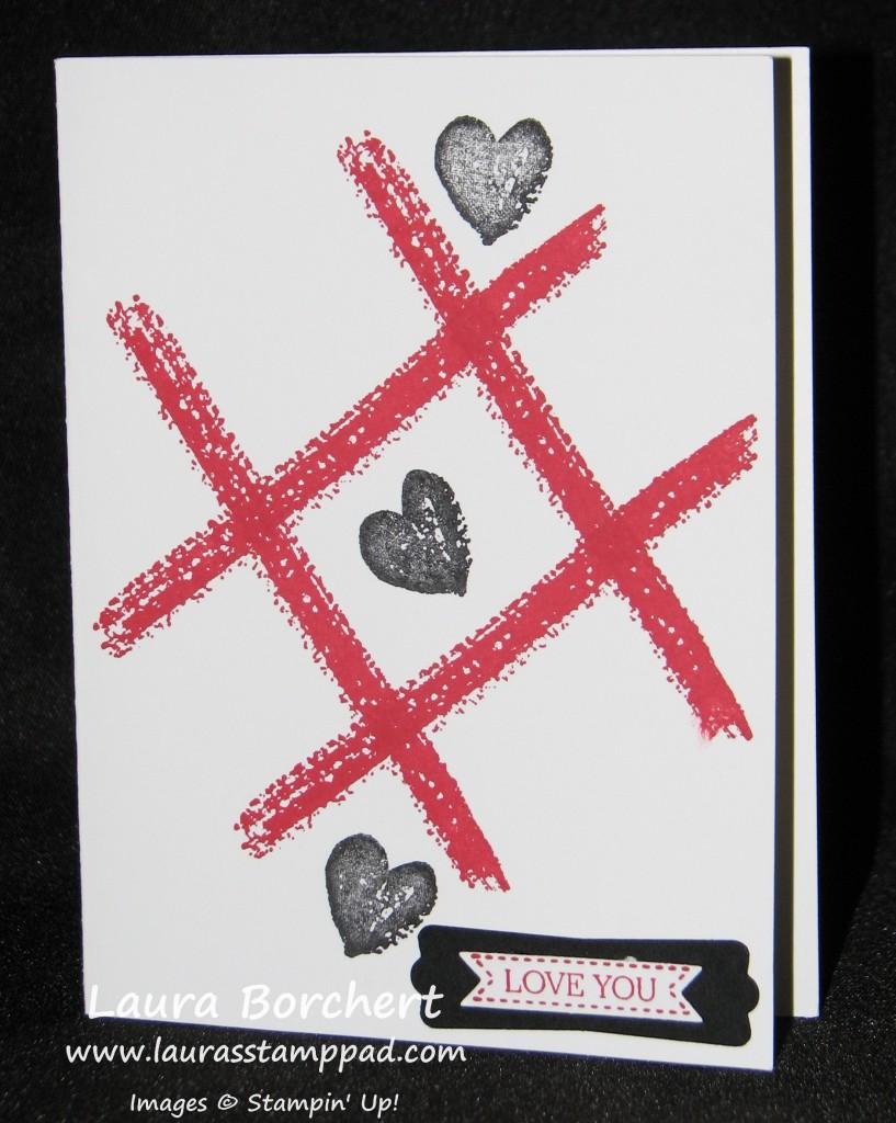 Tic Tac Toe Love, www.LaurasStampPad.com