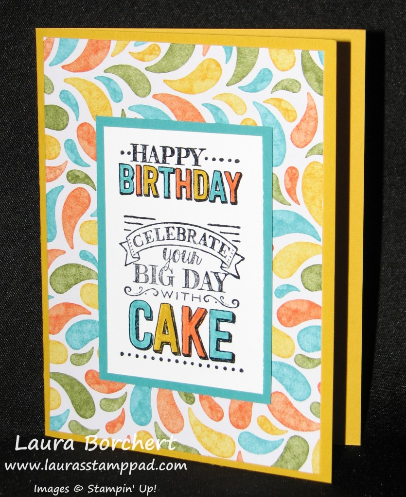 Birthday Bash, Big Day, www.LaurasStampPad.com
