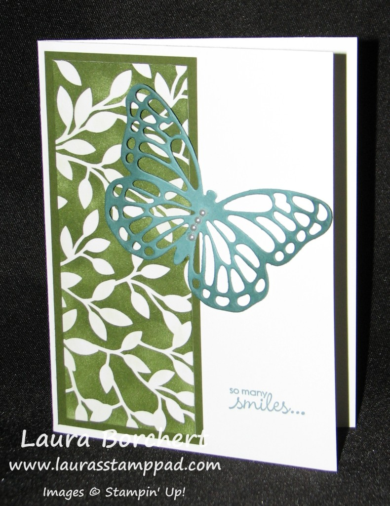 Sponged Butterfly Thinlits, www.LaurasStampPad.com