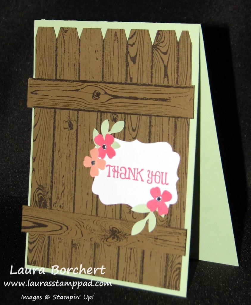 Hardwood Fence & Flowers, www.LaurasStampPad.com