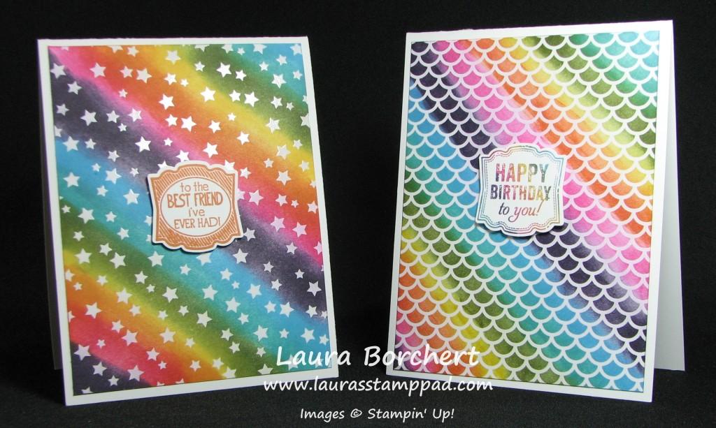 Rainbow Irresistibly Yours, www.LaurasStampPad.com