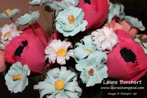 Paper Flower Bouquet, www.LaurasStampPad.com