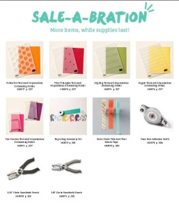 New Sale-A-Bration Items