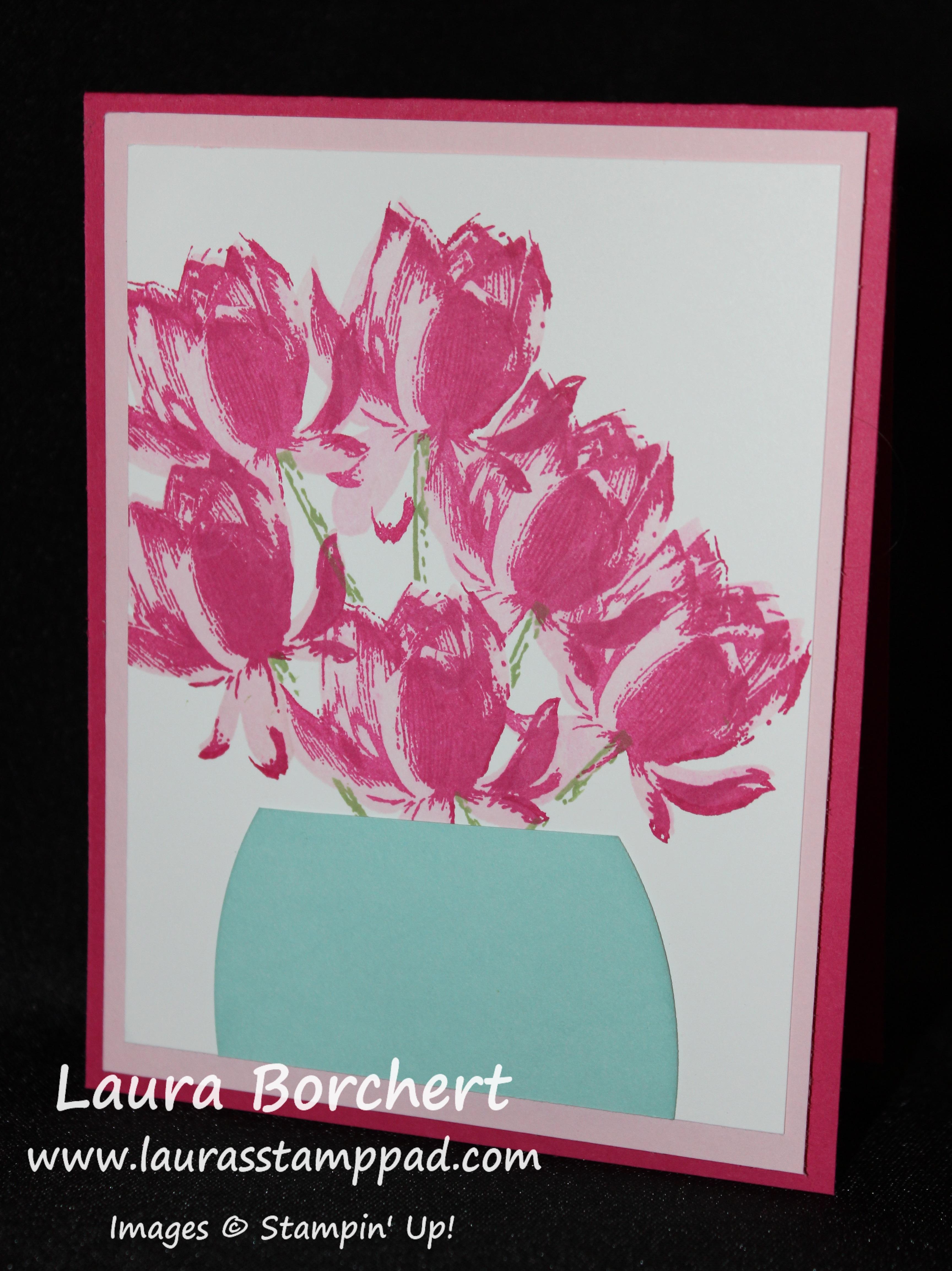 Technique Tuesday Flower Bouquet Mask Lauras Stamp