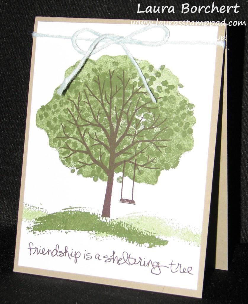 Sheltering Tree Swing, www.LaurasStampPad.com