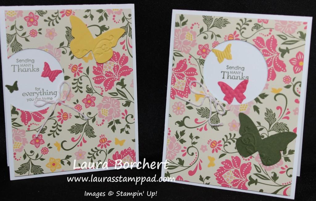 All Abloom Paper, Butterflies, www.LaurasStampPad.com