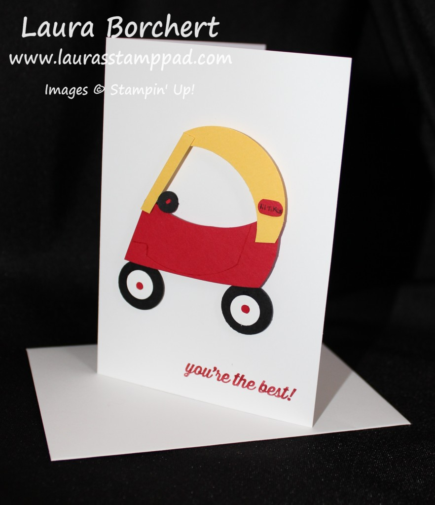 Cozy Coupe Punch Art, www.LaurasStampPad.com