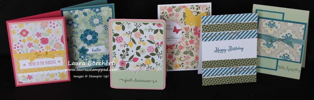 All Abloom Card Set, www.LaurasStampPad.com