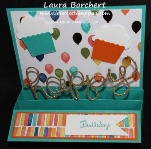 Birthday Box Card, www.LaurasStampPad.com