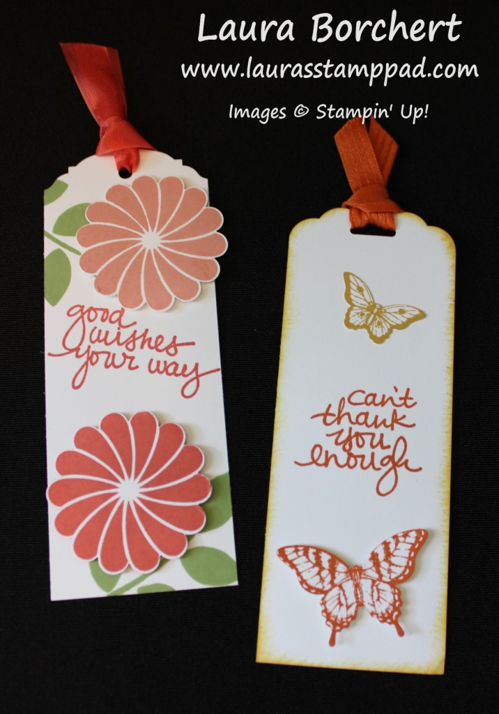 Butterfly Bookmarks, www.LaurasStampPad.com