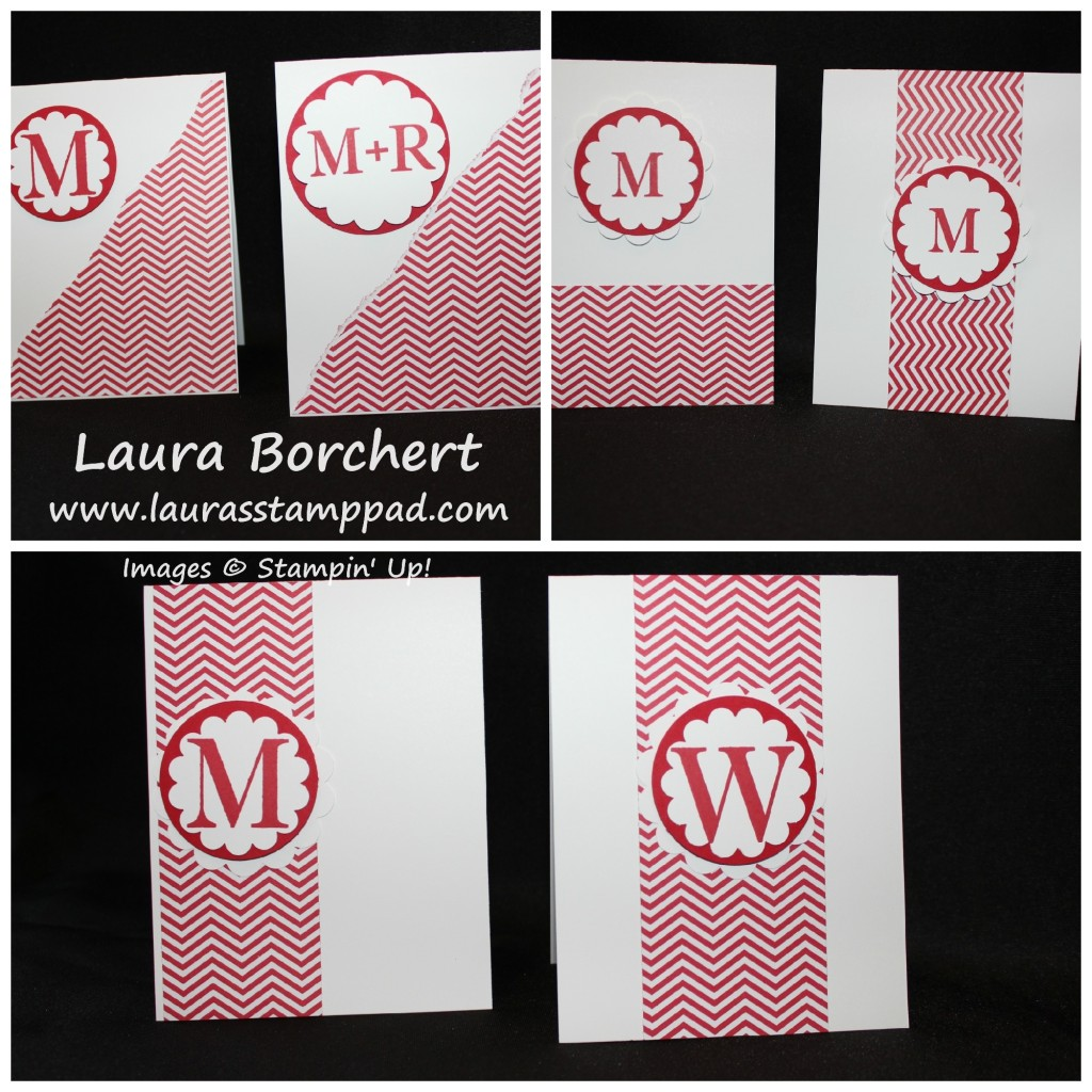 Monogram One Sheet Wonder, www.LaurasStampPad.com