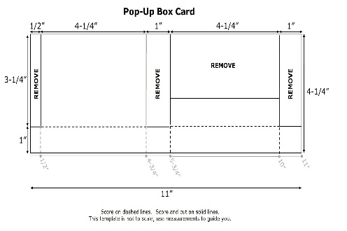 Pop-Up Box Template, www.LaurasStampPad.com