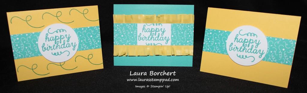 Birthday Cards May Paper Pumpkin, www.LaurasStampPad.com
