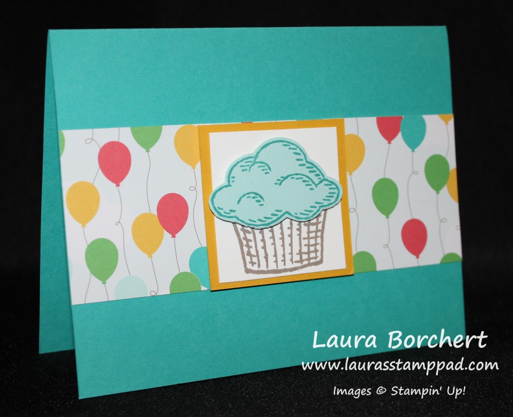 Cupcake Pop Out Card, www.LaurasStampPad.com