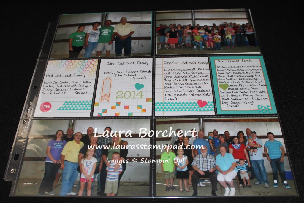Project Life Family Page, www.LaurasStampPad.com