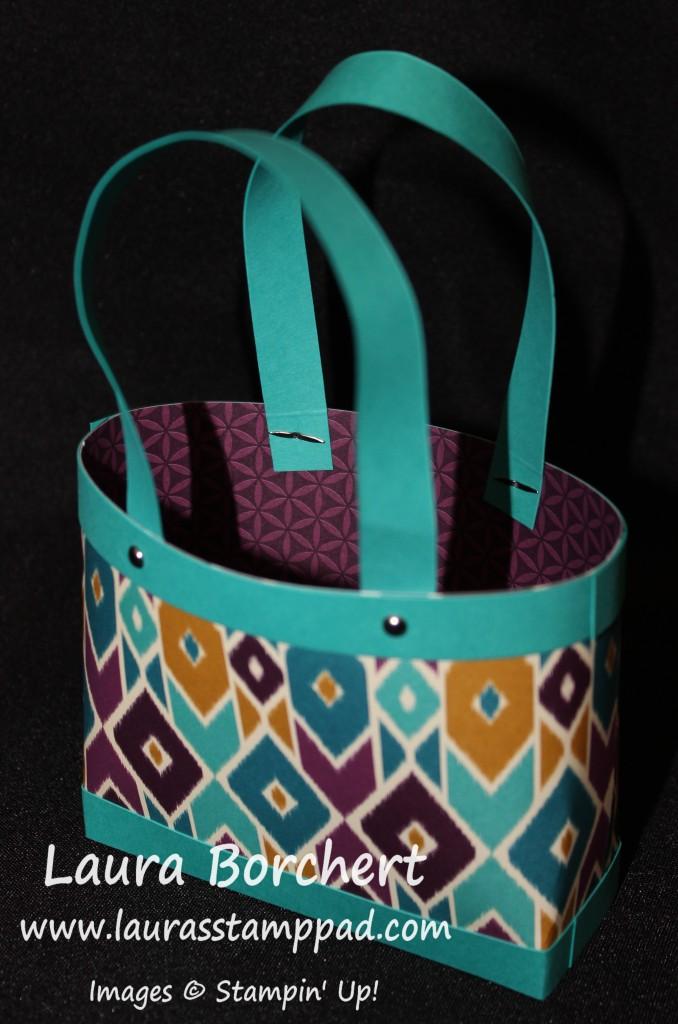 Mini handmade bag, www.LaurasStampPad.com