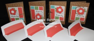 Coral Cards, www.LaurasStampPad.com