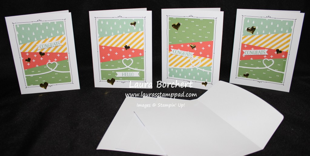 Triangle Cards, www.LaurasStampPad.com
