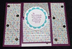 Flat Center Easel Card, www.LaurasStamPPad.com